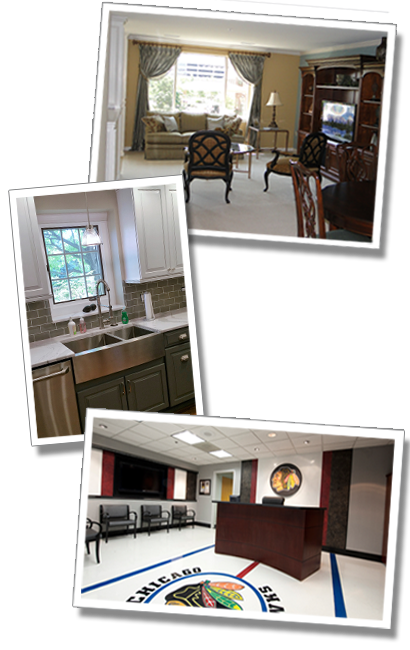 Just few of the many projects undertaken by GMDesigns in the Chicago suburbs
