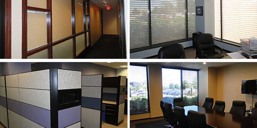 Hunter Douglas Midwest Office window treatments by GG Morris