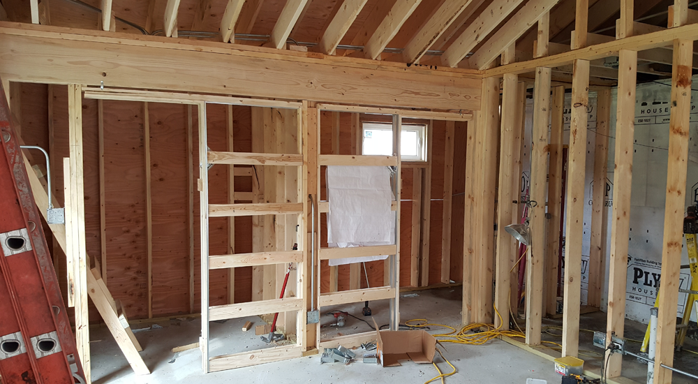 Framing the en suite bathroom