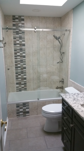 Stunning tile makes a great bathroom!