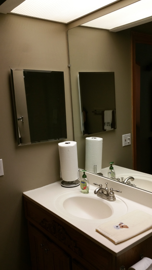 The traditional bathroom mirror