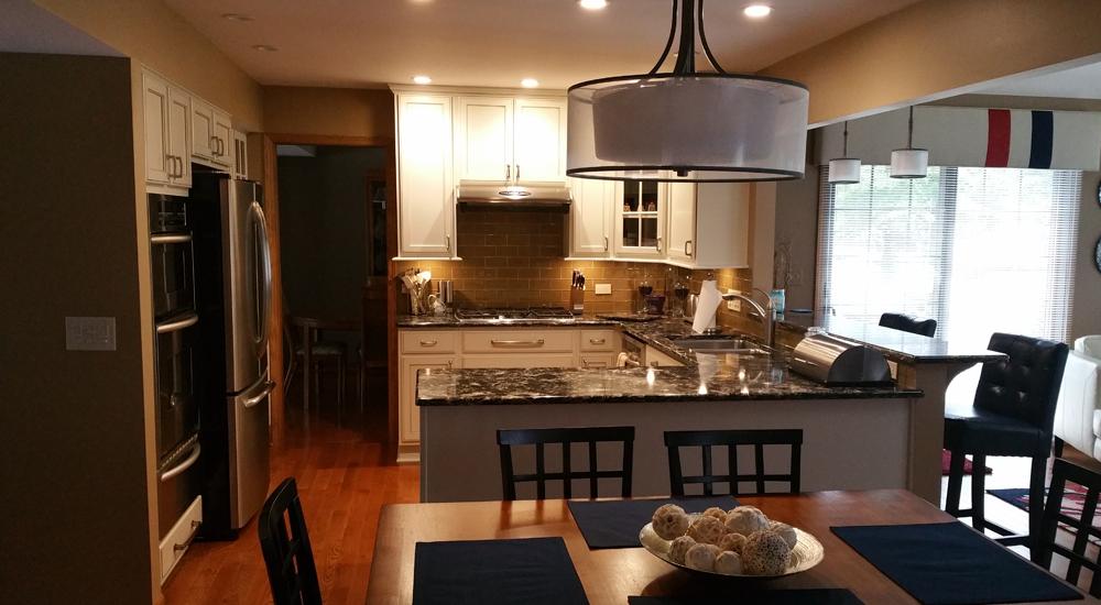 A well organized kitchen