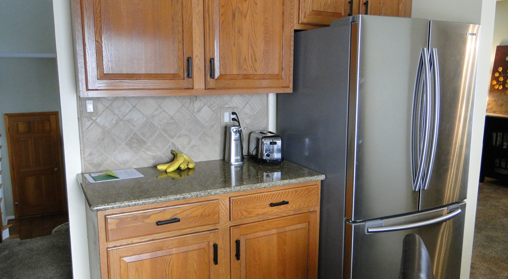 Granite replaces the old countertops