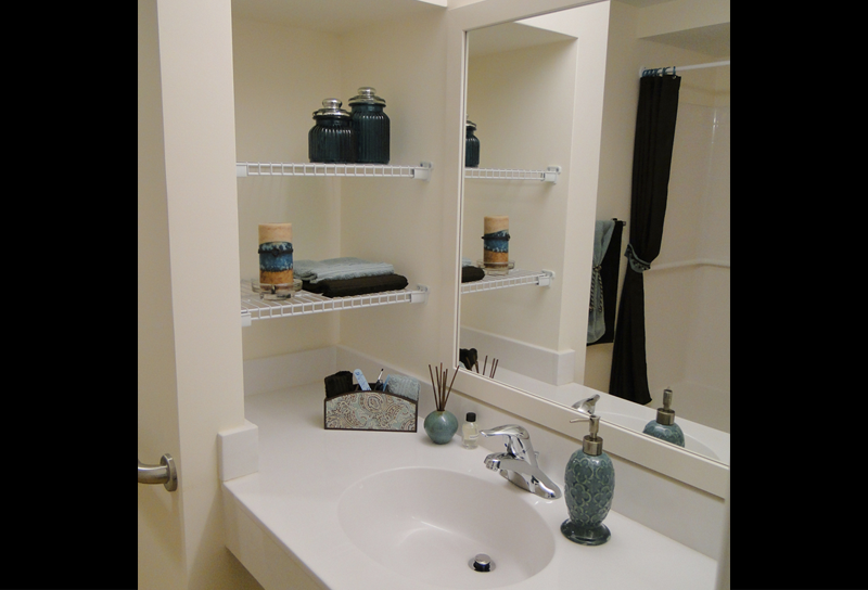 Bathroom storage areas
